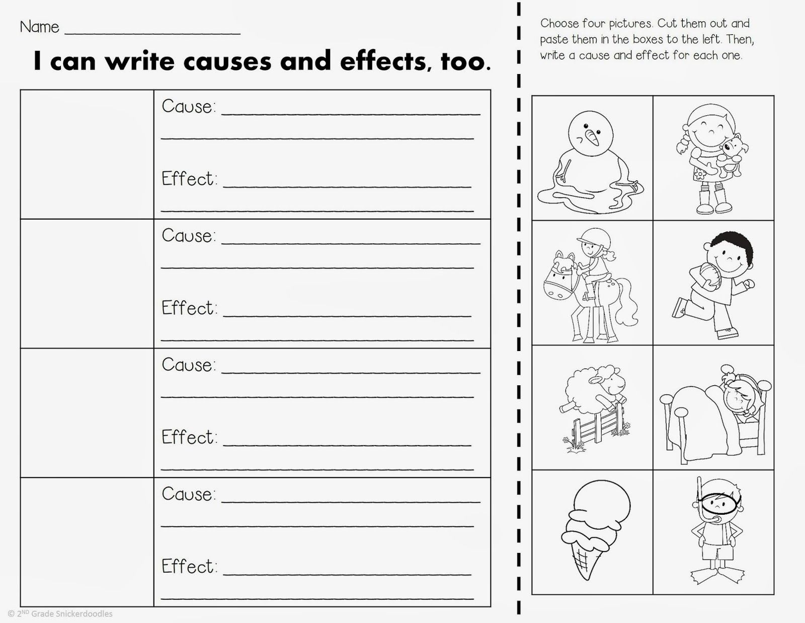 worksheet Cause And Effect Worksheets 2nd Grade 10 best images about cause and effect on pinterest anchor charts graphic organizers text structures