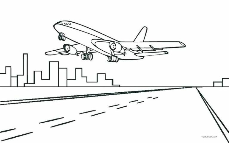 Free Airplane Coloring Pages Printable Printable Coloring Pages To Print Airplane Coloring Pages Coloring Pages To Print Coloring Pages For Boys