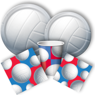All Star Volleyball Party Packs Volleyball Party Supplies
