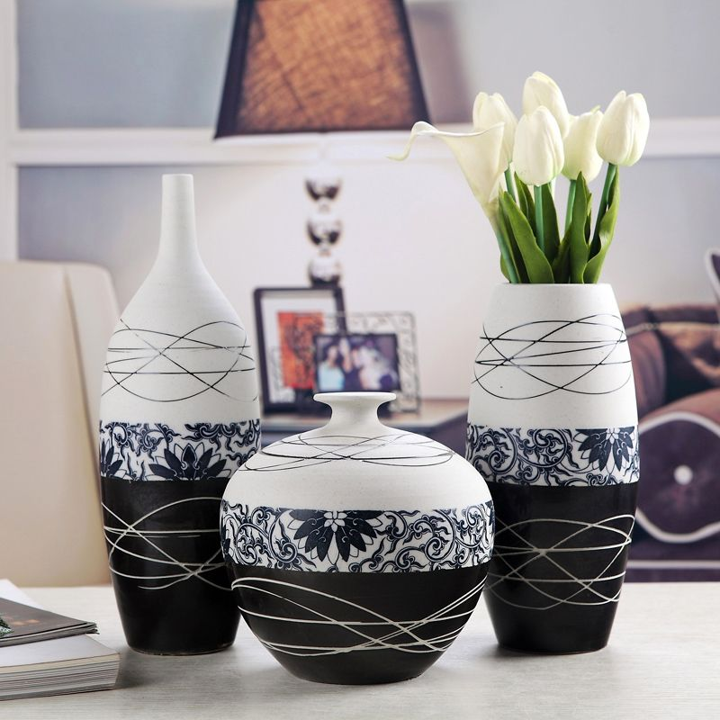 Handmade Pottery Vase Decoration Home Decoration Ideas Tv Cabinet