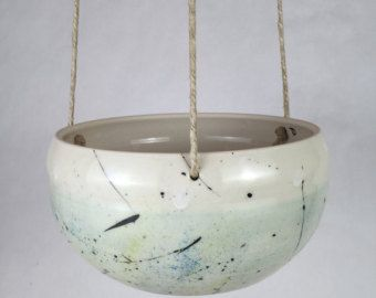 Large Handmade Ceramic Hanging Planter Indoor