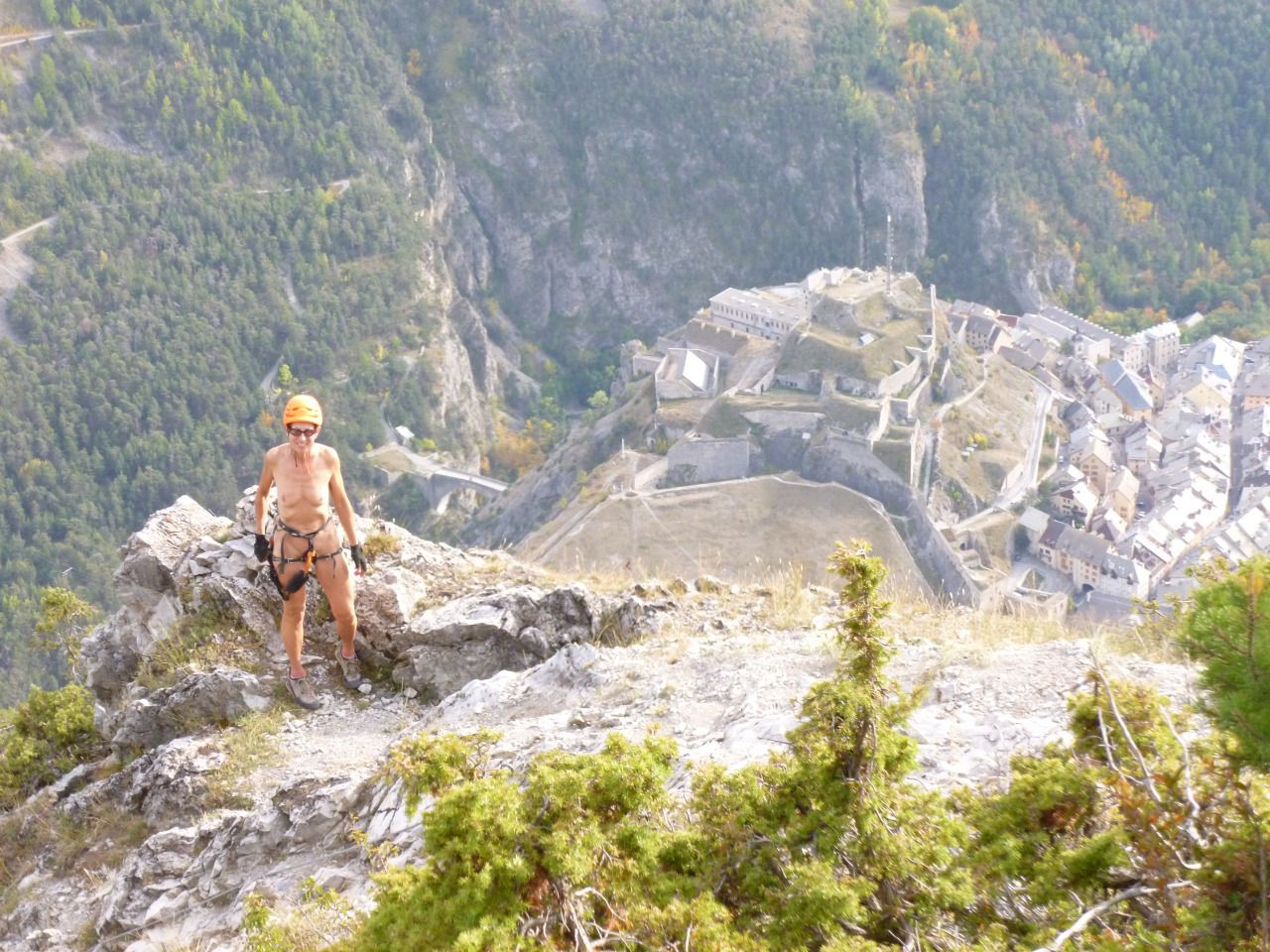 Feel Free Enjoy The Freedom Of Naturism In The Mountains Croix De Toulouse Via Ferrata Above Briancon France Naturiste Toulouse Croix