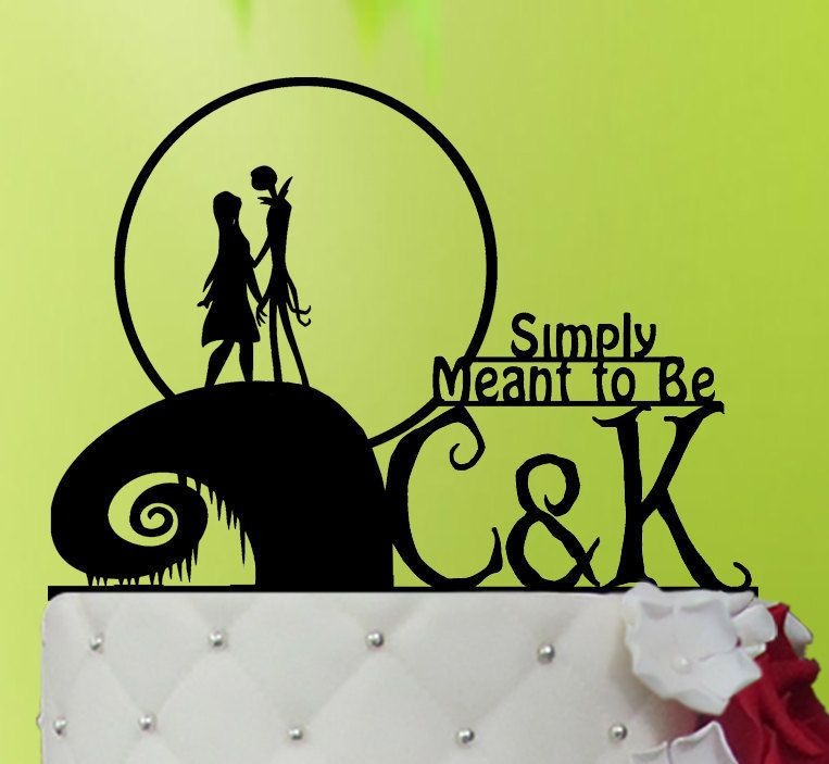 wedding cake topper jack and sally cake topper the nightmare before christmas wedding decorations
