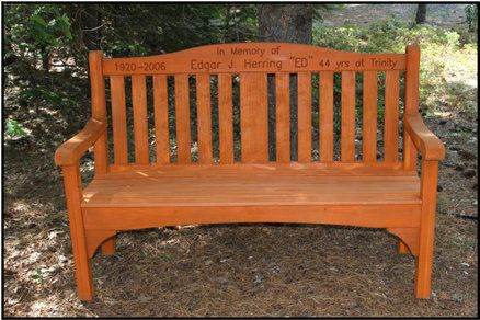 Memorial Bench For Grandpa In The Backyard Memorial Benches