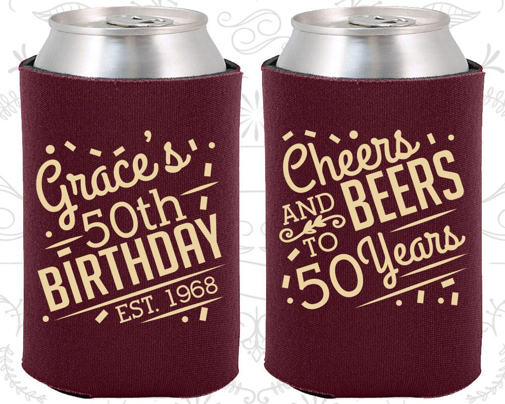 50th Birthday, 50th Birthday Favors, Custom Birthday