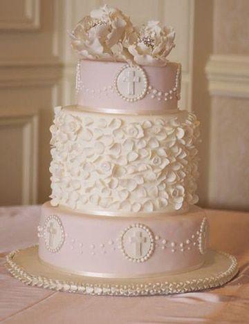Hermosas y apetitosas tortas de bautizo para ni a for Decoracion para bautizo nina