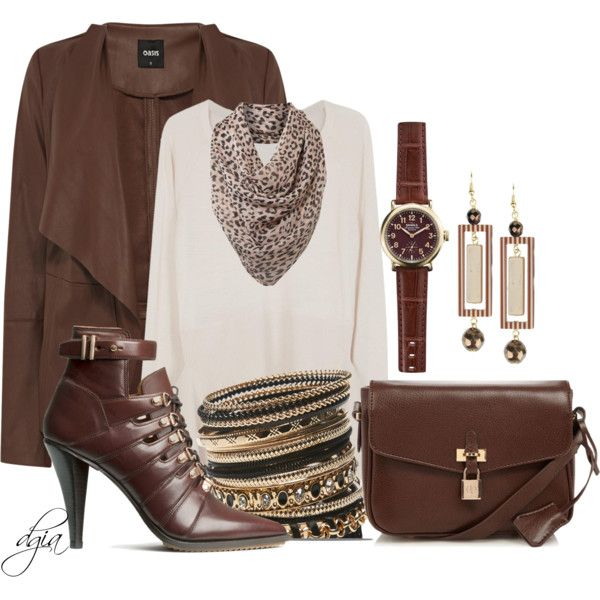 """""""*H&M* Boots and OASIS coat"""" by dgia on Polyvore"""