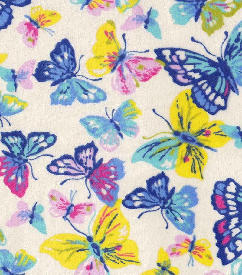 Snuggle Flannel Fabric-Watercolor Butterflies
