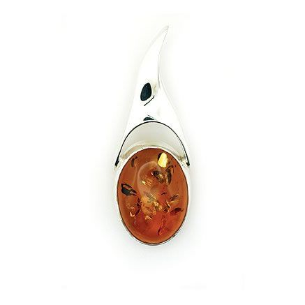 Bold Amber Pendant from Amber Zone silver jewellery