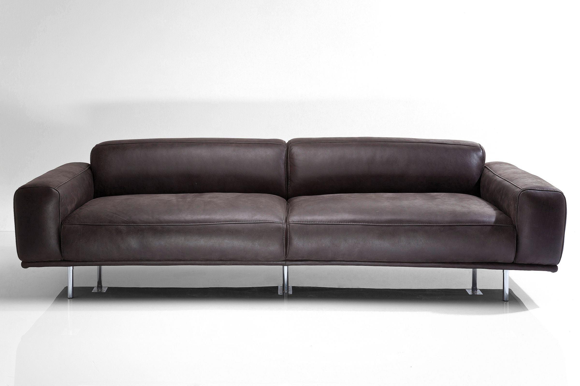 sofa lorenzo 245cm leder anthrazit by kare design studio. Black Bedroom Furniture Sets. Home Design Ideas