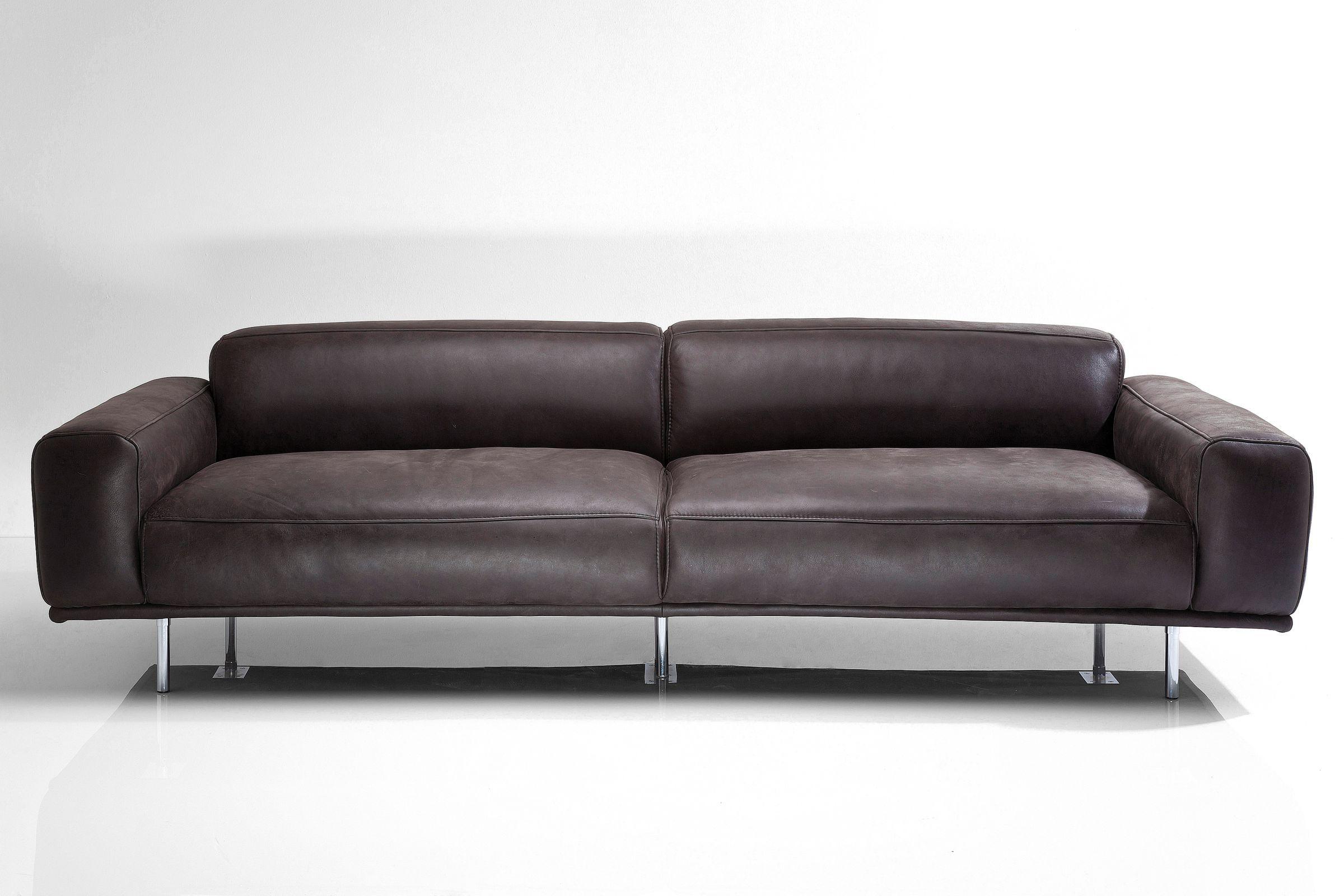 Sofa lorenzo 245cm leder anthrazit by kare design studio for Made divani