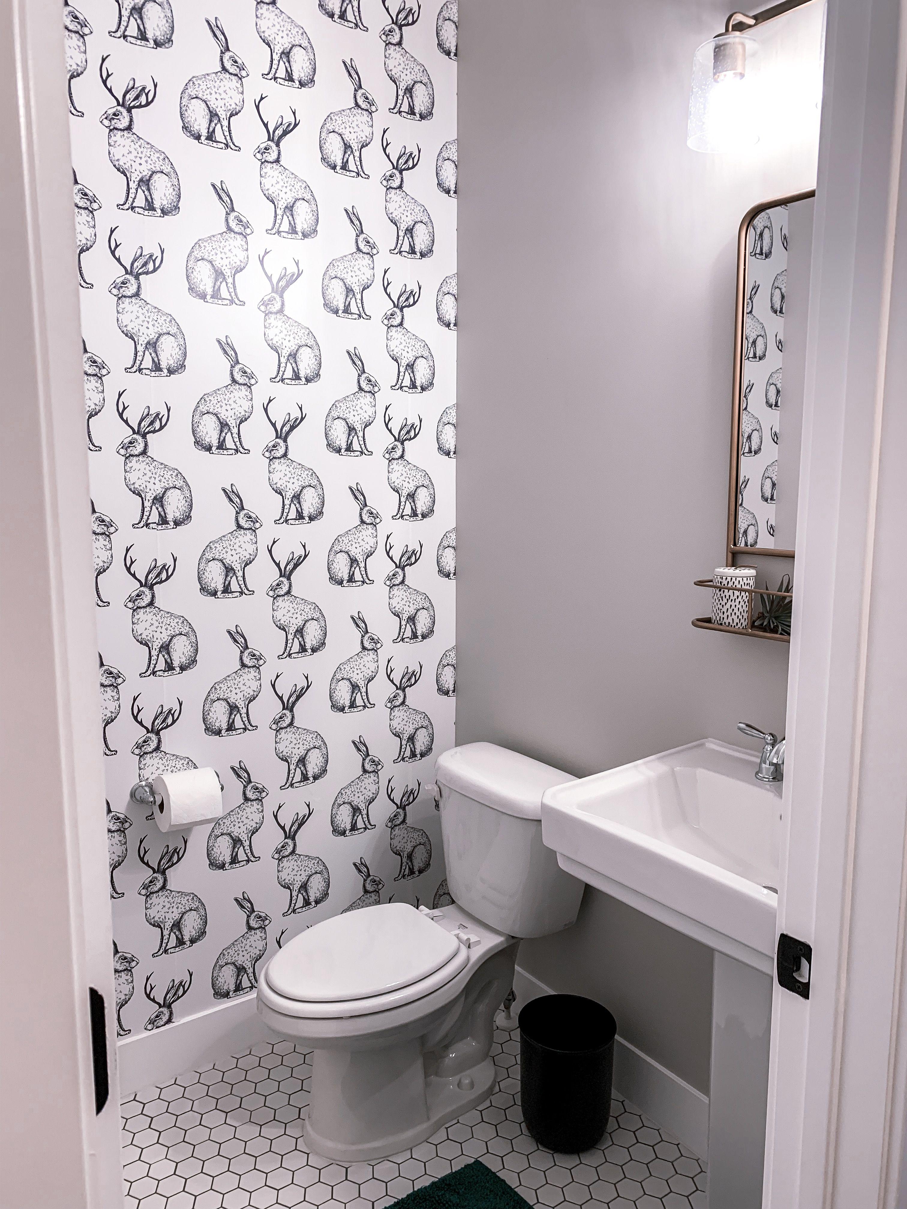 Wallsneedlove wallpaper in our half bathroom - eclectic ...