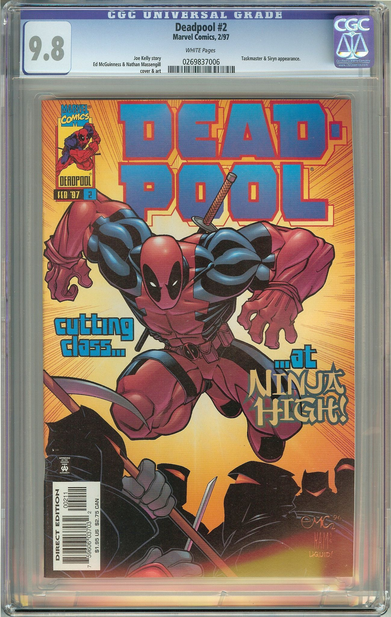 Deadpool 2 (1st Series 1997) CGC 9.8 White Pages