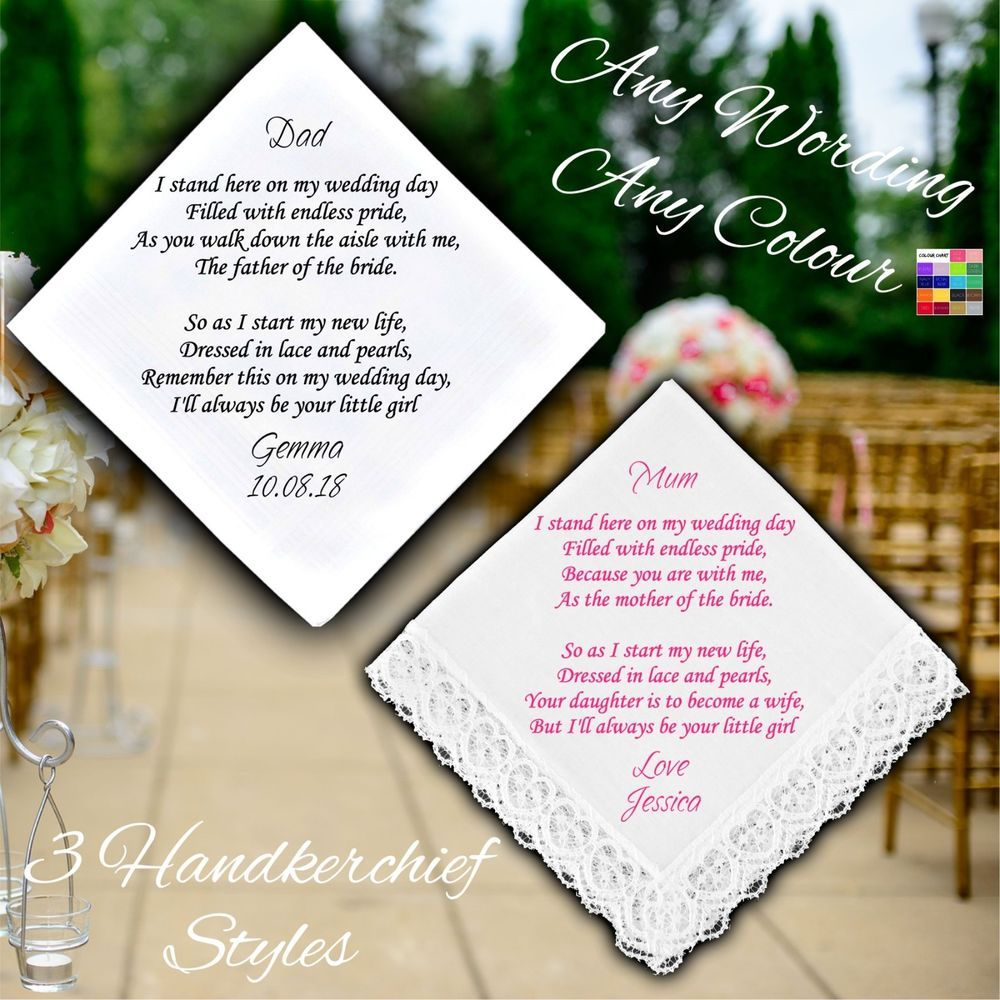 Personalised Mother And /& Father of the Bride Photo Frames Wedding Favour Gifts