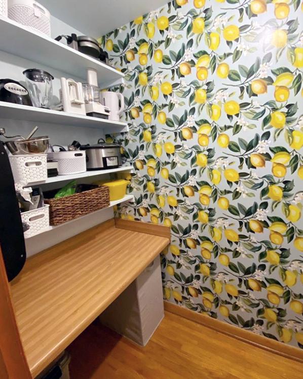 Lemon Zest Peel And Stick Wallpaper Pantry Design Home Decor Furniture Decor