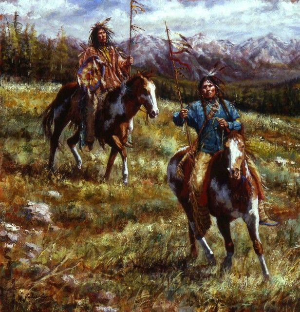 Impressive Splendor - Lakota painting - Native American painting | James Ayers Studios