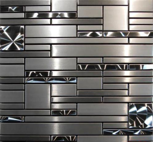 Stainless Steel Mosaic Quadrant 12x12 Amazon Com Mosaic Tile Kitchen Kitchen Tiles Backsplash Mosaic Tile Backsplash Kitchen