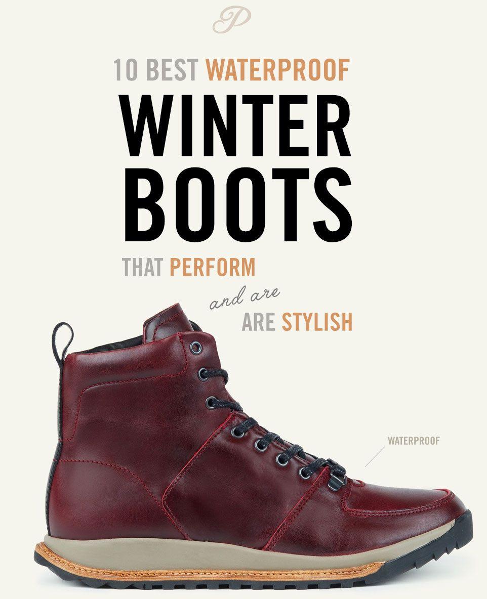 Winter boots men snow