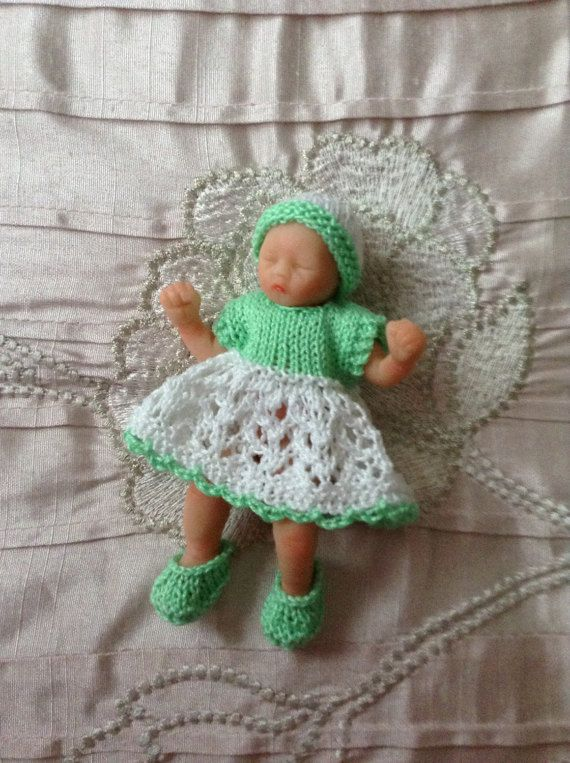 Hand Knitted Dolls Clothes To Fit 45 Ooak Baby By Handknittedbyme