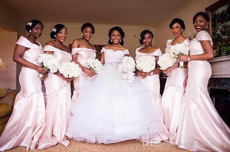 2016 2017 African Nigerian Women Bridesmaid Dresses Cheap