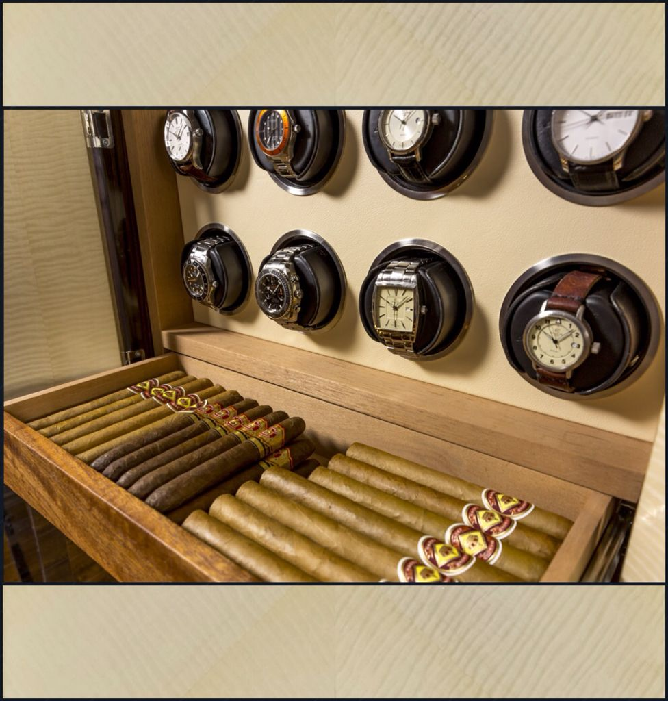 You'll never turn to a dress or armoire again. Combination watch winder/ humidor. Great grooms gift ...