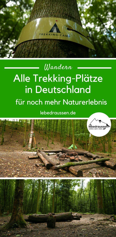 Mit Rucksack und Zelt: alle Trekkingplätze in Deutschland #outdoorplätze