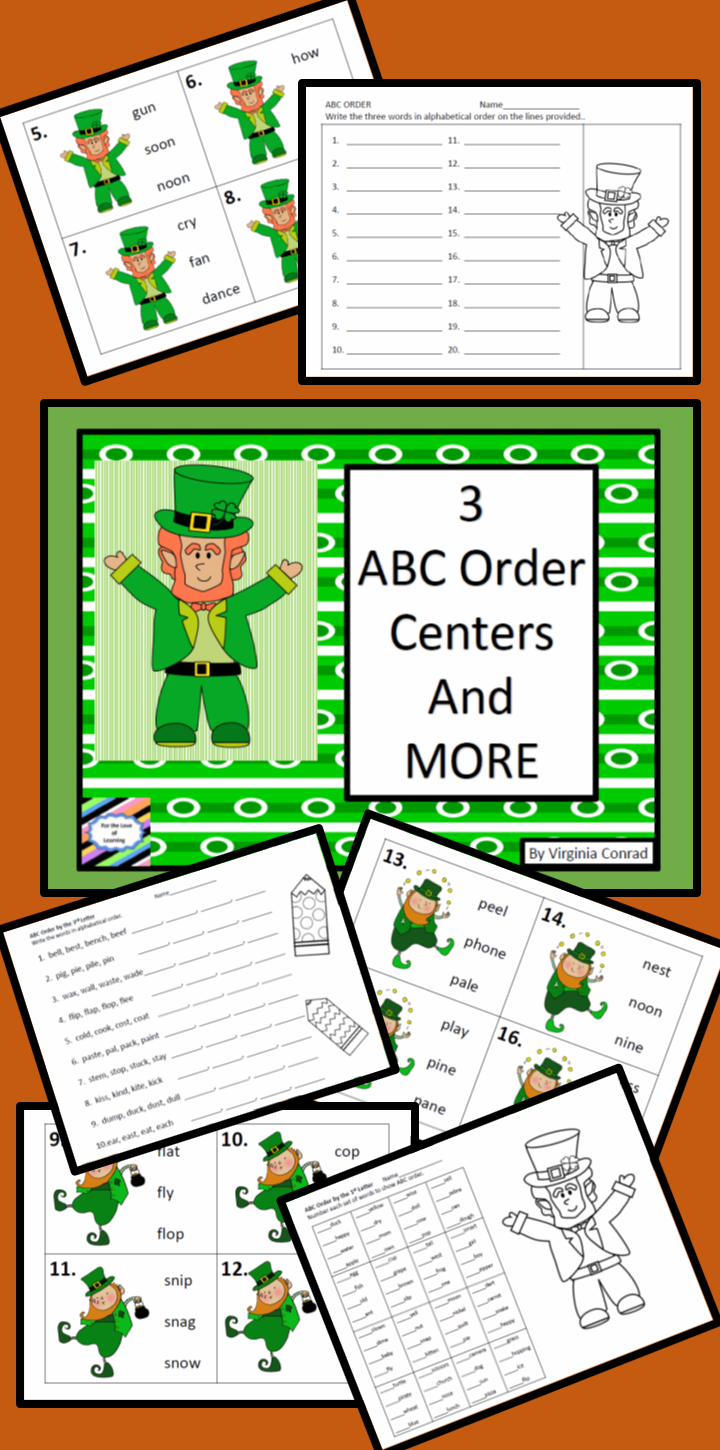 Get Kids Alphabetizing Words By The First Second Or Third Letters With These Centers And Worksheets Livel Abc Order Fun Language Arts Language Arts Lessons [ 1450 x 720 Pixel ]