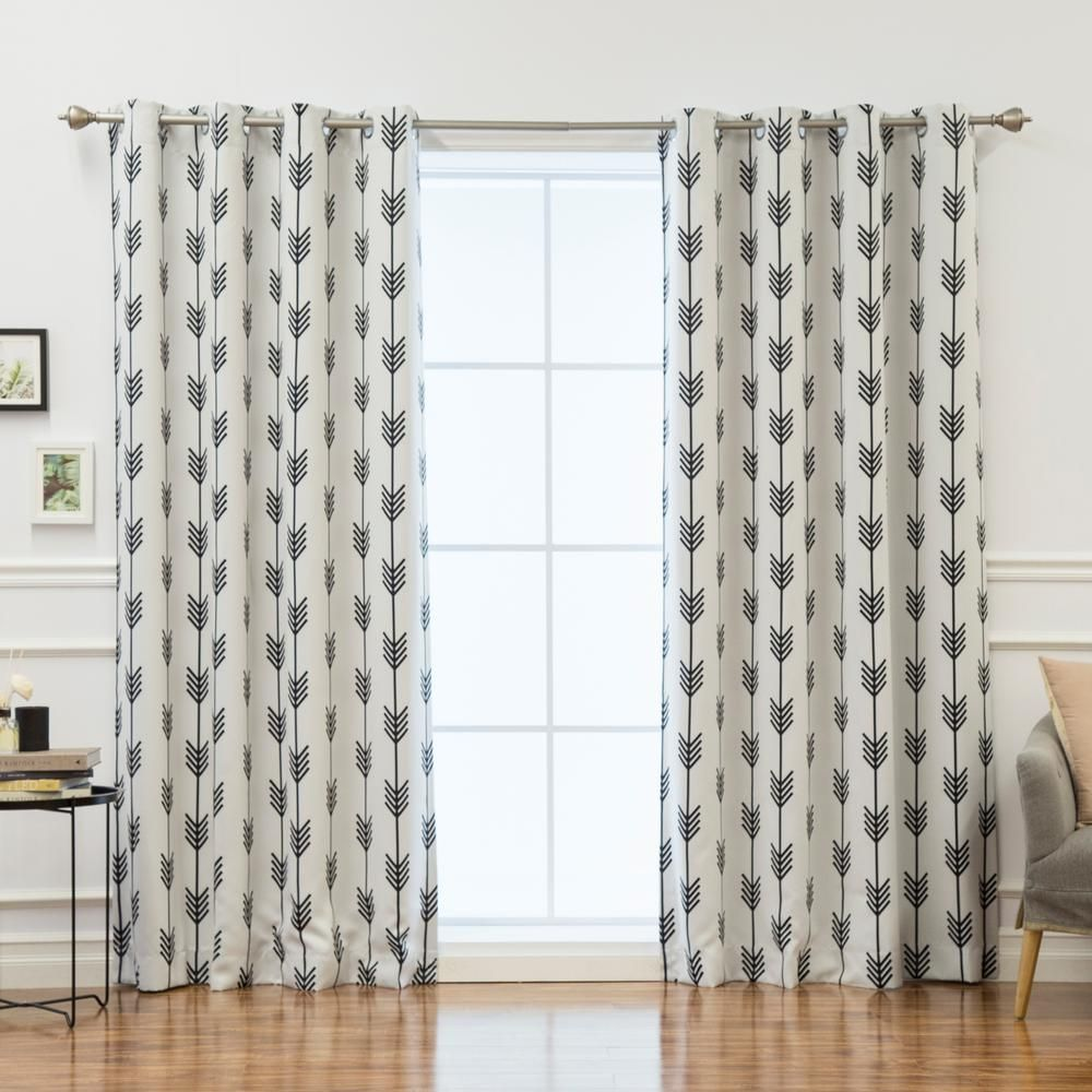 These Room Darkening Curtains Feature A Modern And Trendy Geometric Design That Will Definitely Draw The Attention In Your E Without Overwhelming