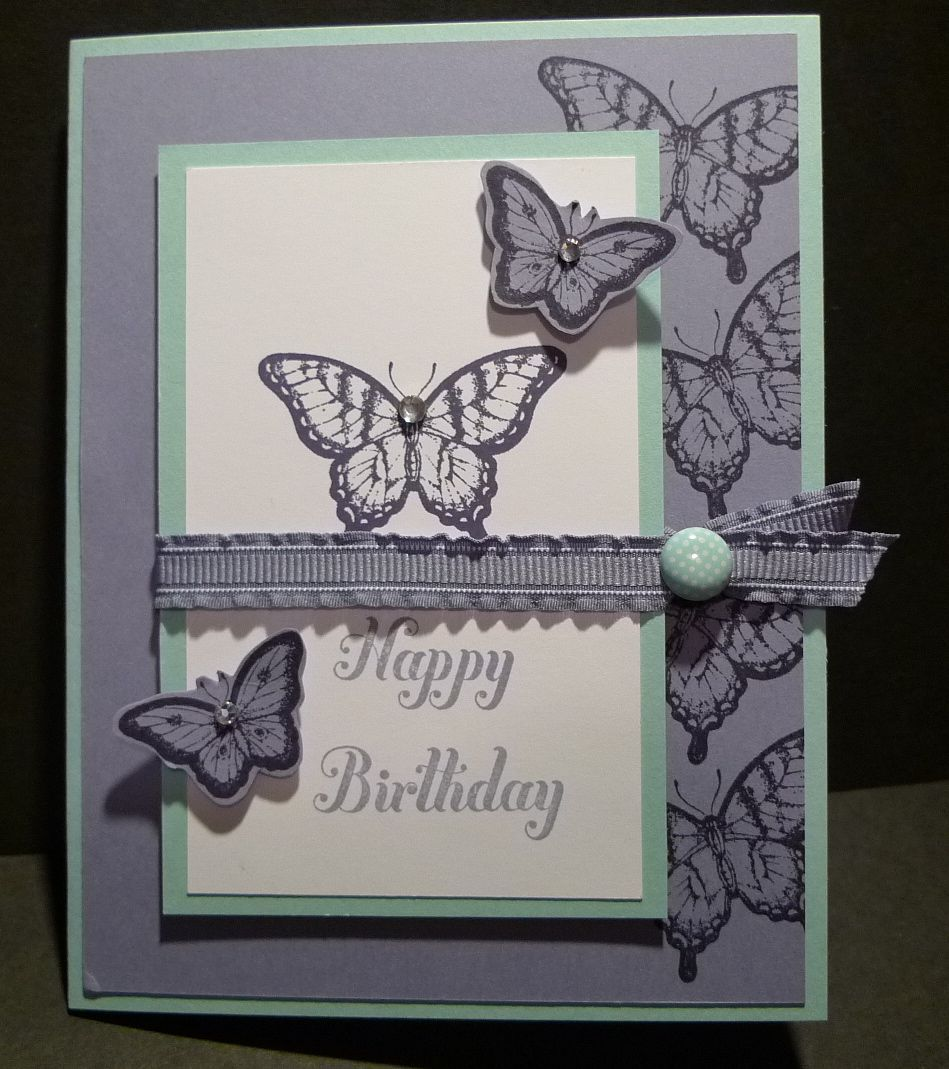 Karina's Kreations: Stampin'Up Papillon Potpourri Birthday Card!