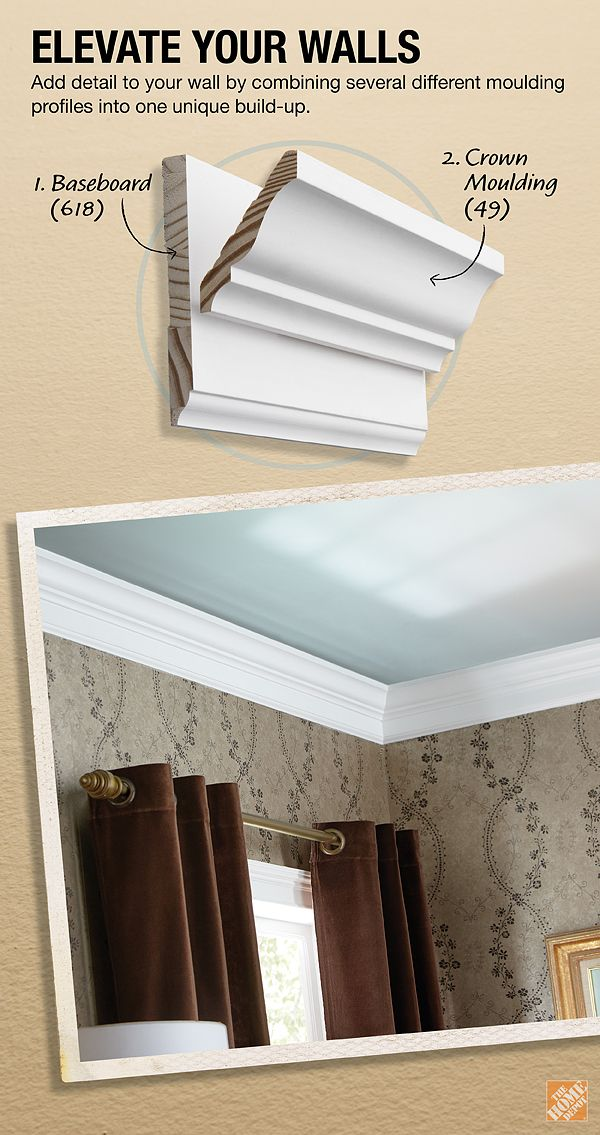Add Detail To Your Crown Moulding By Combining Several