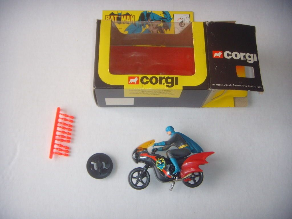 Corgi 1976 Batman's Batbike Variant Box No 268 Mint in An Excellent Box Batman | eBay
