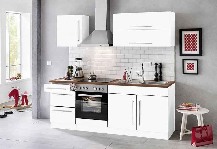 HELD MÖBEL Küchenzeile »Samos«, mit EGeräten, Breite 210