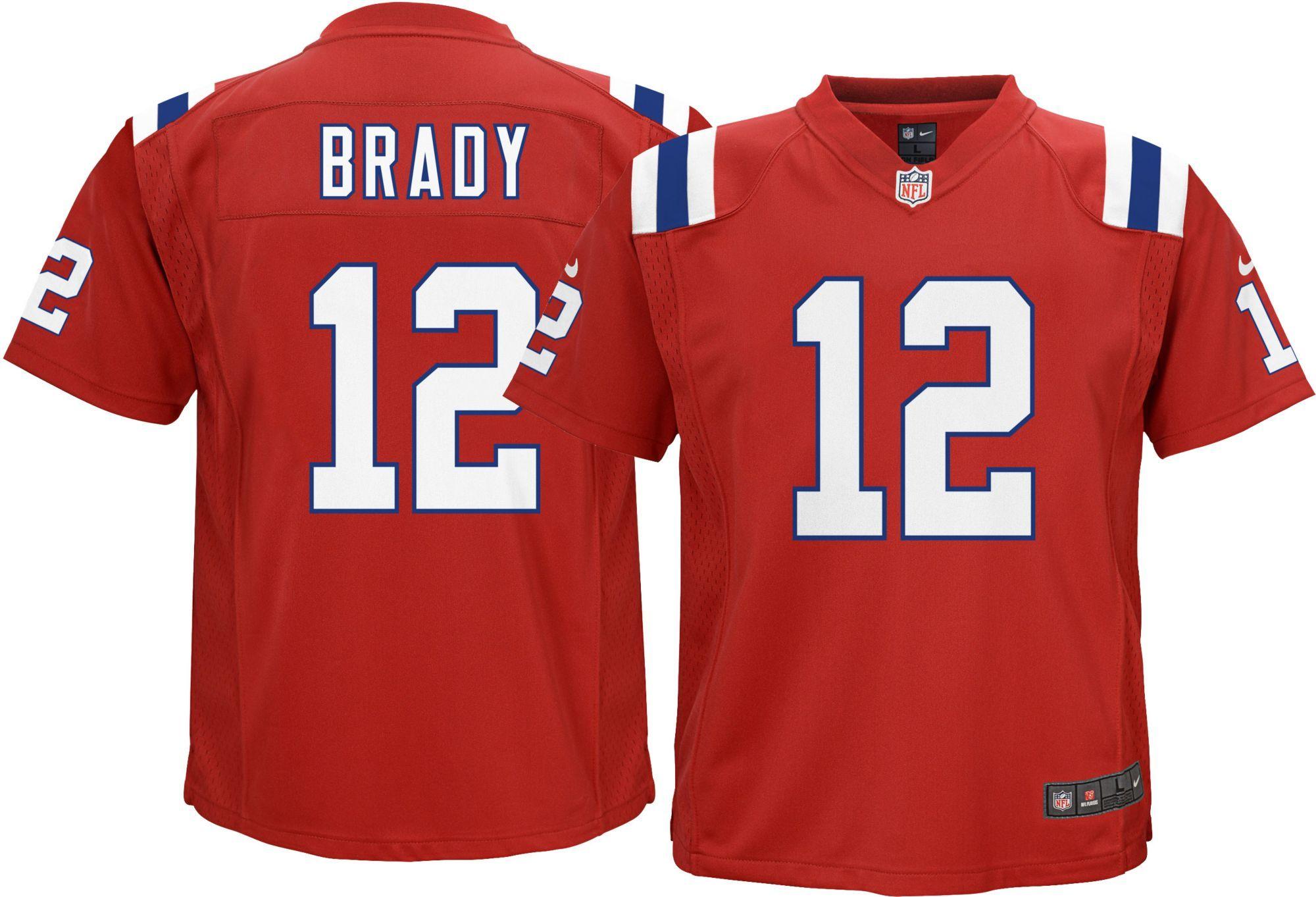 new york f90d8 42c1b Nike Boys' Alternate Game Jersey New England Patriots Tom ...