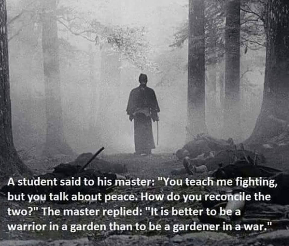 It Is Better To Be A Warrior In A Garden Than To Be A Gardener In A