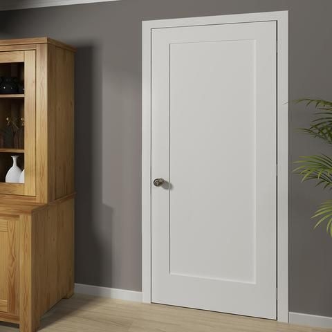 Shaker 1 Panel Solid Core White Interior Door Slab White Interior Doors Interior Barn Doors Wooden Doors