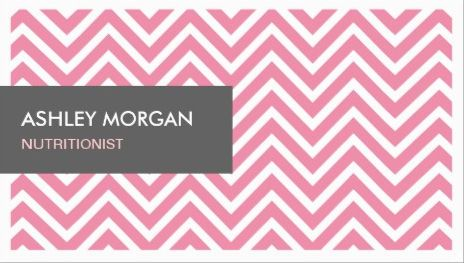 Girly dietitian nutritionist light pink and white chevron zigzag girly light pink and white chevron zigzag life coach business cards colourmoves Gallery