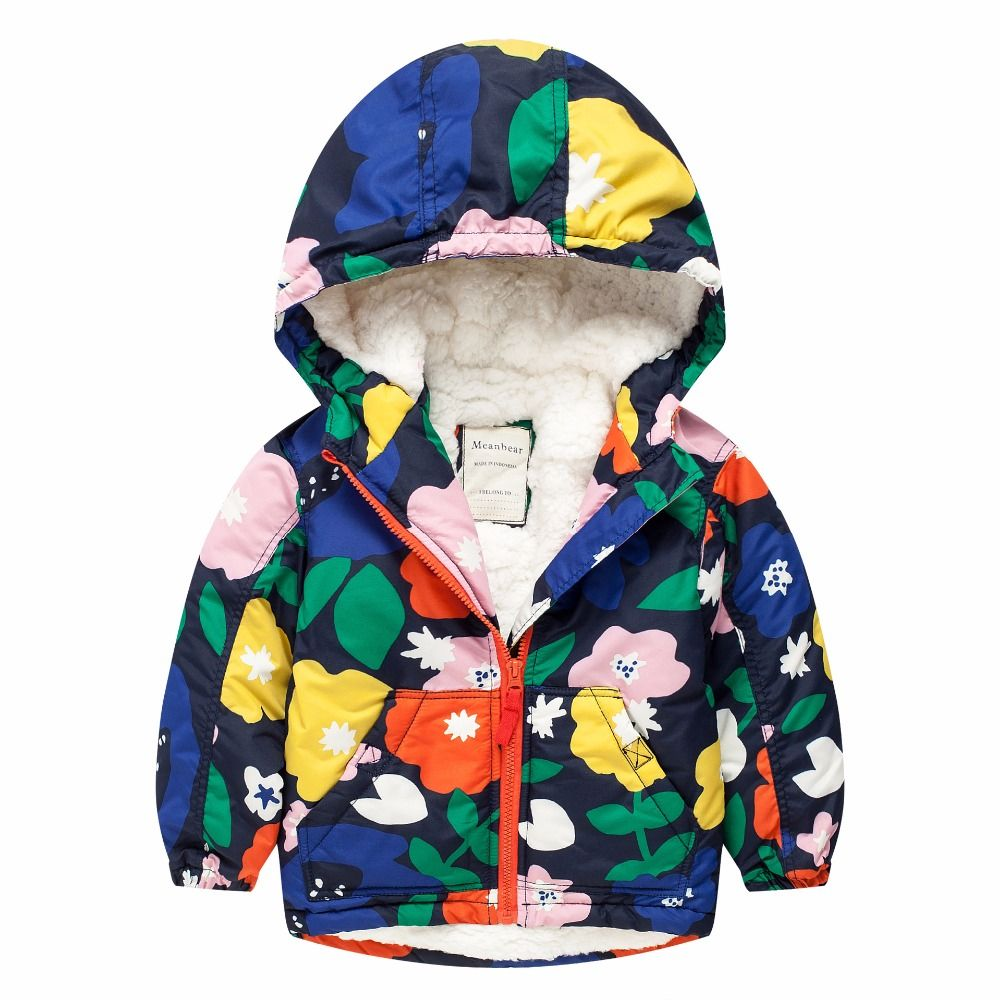 94bdfd8e8 Click to Buy << 2017 New Style Winter Girls Coat Children Thick Warm Hooded  Kids Lining Cotton Fleece Jacket Soft Outerwear Best Birthday Gift  #Affiliate