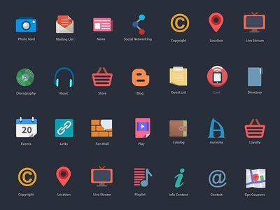 Flat icons | GAMES UI LOGO GAME ICON | Flat design icons