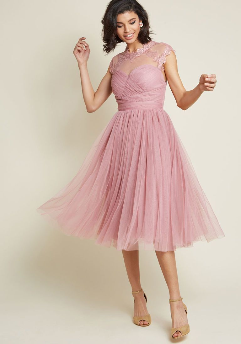 Emphasis on Opulence Fit and Flare Dress in Dusty Rose | Pinterest ...