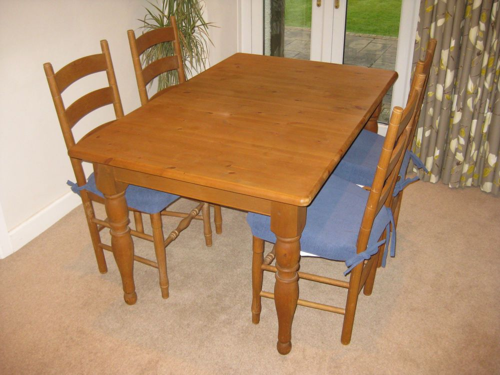 Dining Table And Chairs French Country Pine Extending Table
