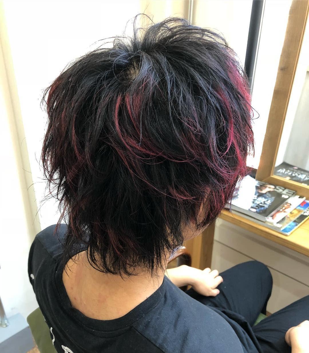 レッドメッシュウルフ 大阪 メンズ束感カット メンズヘアスタイル