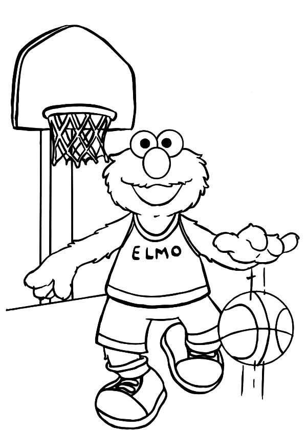 Elmo Basketball Exercise Coloring Pages Kids Play Color Cartoon Coloring Pages Monster Coloring Pages Coloring Pages