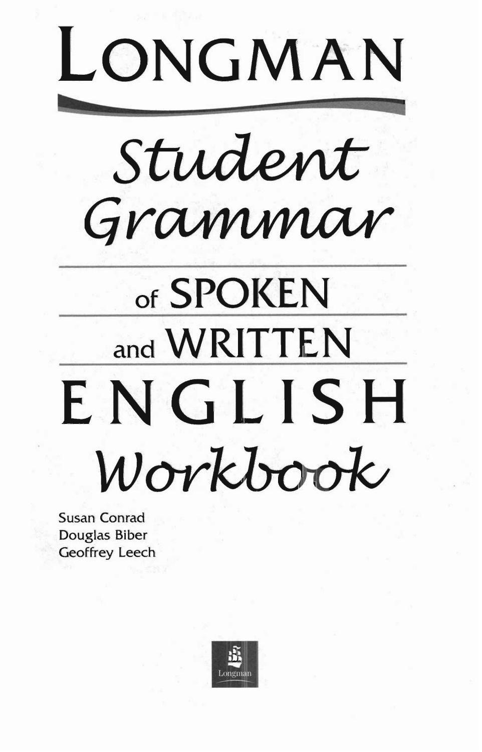 Student grammar of spoken and writtern english workbook