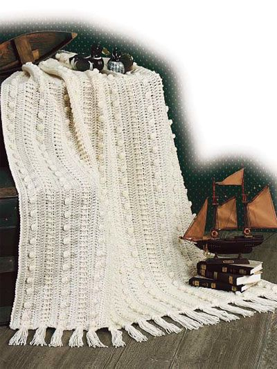 Classic Aran Afghan Traditional and stylish! Afghan size: 45\