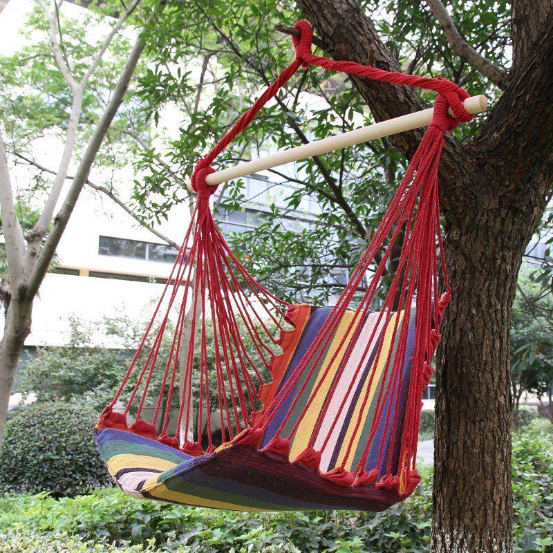 Adeco Hammock Chair Tree Hanging Suspended Outdoor Indoor   HA0068 2