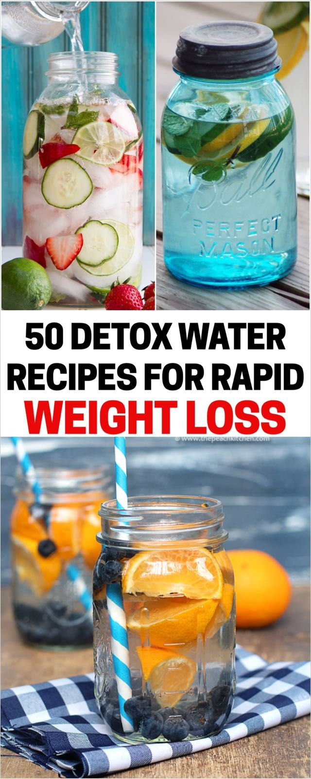 Top  Detox Water Recipes For Rapid Weight Loss  Water recipes