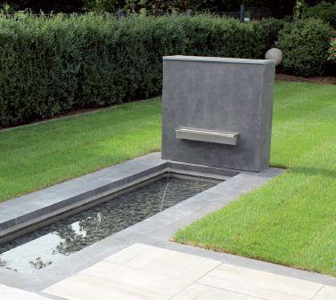 Garten im Quadrat Sichtschutz-Wand aus Fiberglas, moderne Beton