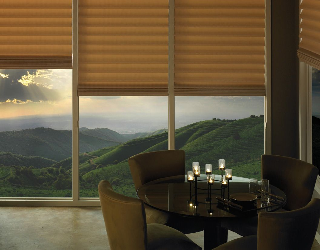 Dining room window coverings  create a memorable moment and dining room ambiance with vignette