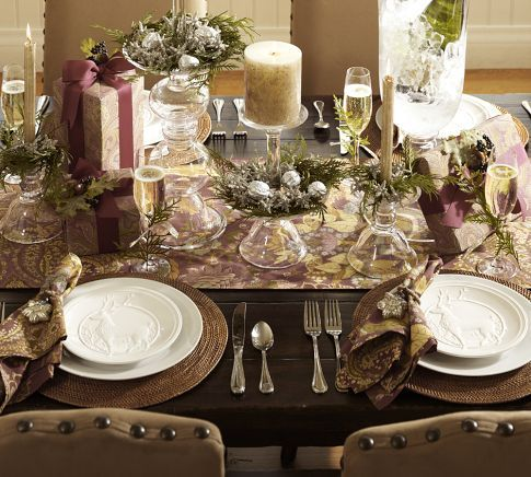 Pottery Barn Holiday Setting Wish I Was This Creative Christmas Table Decorationschristmas
