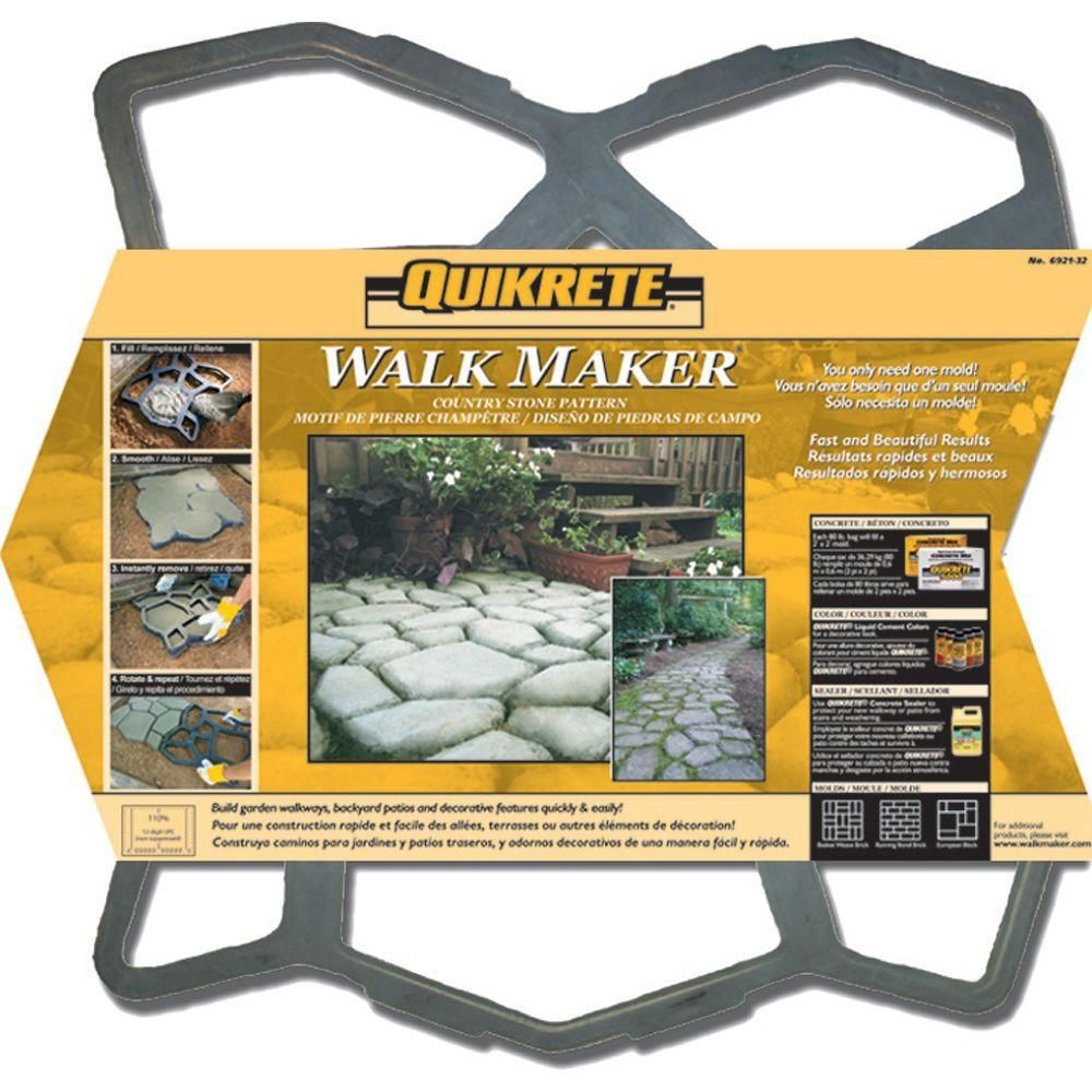 Quikrete 2 In X 24 In X 24 In Country Stone Walk Maker 692132 Walk Maker Concrete Stepping Stones Pattern Concrete